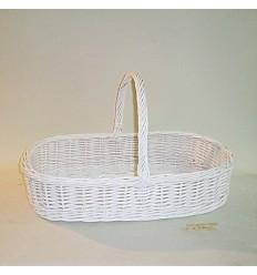 Comprar cesta para bodas todo mimbre color blanco en - Cestos de mimbre blanco ...