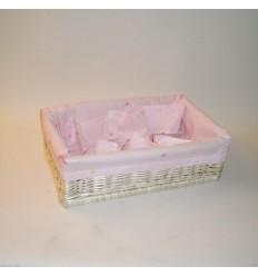 Canastilla rosa 43x29x13 cm
