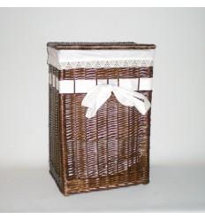 Ropero rectangular color nogal con lazo