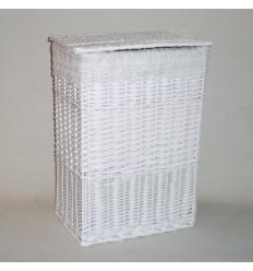 Ropero rectangular grande blanco puntilla