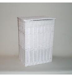 Ropero rectangular pequeño blanco puntilla