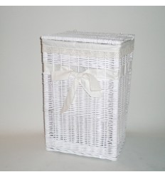 Ropero rectangular blanco con lazo