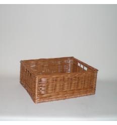 Cajón de mimbre color buff barnizado pequeño