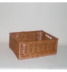 Cajón de mimbre color buff barnizado mediano
