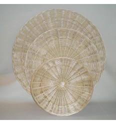 Círculos de mimbre para decorar