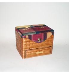 Costurero 1 cajón sin patas/tela