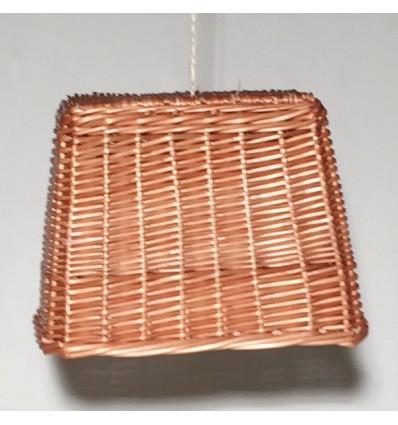 Lámpara mimbre rectangular
