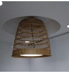 LAMPARA MIMBRE CALADA CILINDRICA