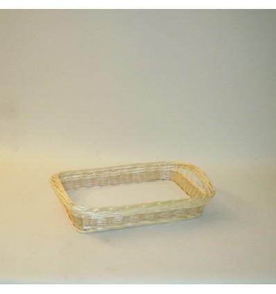 Bandeja rectangular 40x27x8 cm. natural