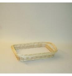 Bandeja rectangular 45x30x8 cm. natural