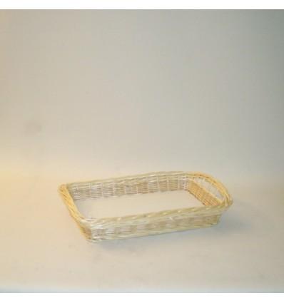 Bandeja rectangular 50x30x8 cm. natural