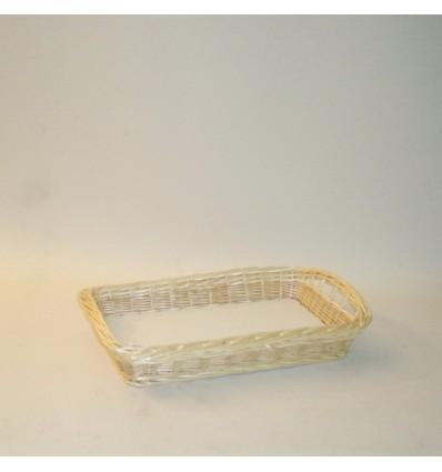 Bandeja rectangular 59x33x8 cm. natural