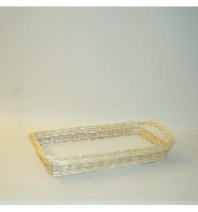 Bandeja rectangular 64x39x8 cm. natural
