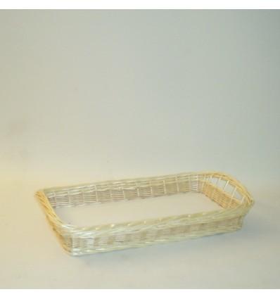 Bandeja rectangular 68x46x8 cm. natural