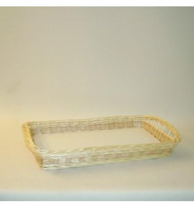 Bandeja rectangular 75x46x8 cm. natural