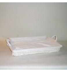 Bandeja para plancha blanca lazo